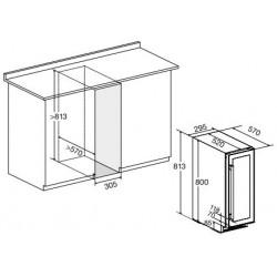 Винный шкаф DX-17.58DBK/DP