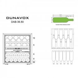 Винный шкаф Dunavox DAB-36.80DSS