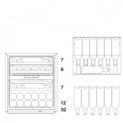 Винный шкаф Dunavox DAV-32.81DOP.TO