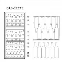 Винный шкаф Dunavox DAVS-72.185DB