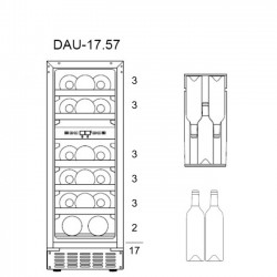 Винный шкаф Dunavox DAU-17.57DSS