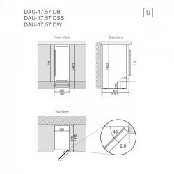Винный шкаф Dunavox DAU-17.57DW