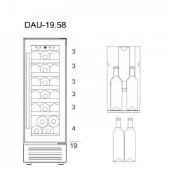 Винный шкаф Dunavox DAU-19.58B