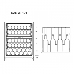 Винный шкаф Dunavox DAU-39.121DSS