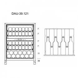 Винный шкаф Dunavox DAU-39.121DW