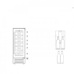 Винный шкаф Dunavox DAUF-19.58B