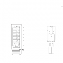 Винный шкаф Dunavox DAUF-19.58SS
