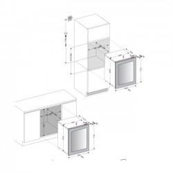 Винный шкаф Dunavox DAV-32.81DW.TO