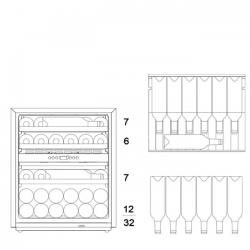 Винный шкаф Dunavox DAVG-32.80DB.TO