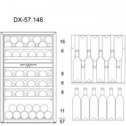 Винный шкаф Dunavox DX-57.146DWK