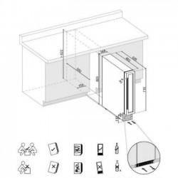 Винный шкаф белый Dunavox DX-7.20WK/DP
