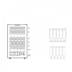 Винный шкаф Dunavox DXFH-30.80