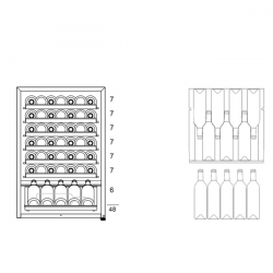 Винный шкаф Dunavox DXFH-48.130