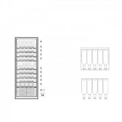 Винный шкаф Dunavox DXFH-54.150