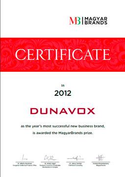 сертификат венгерского конкурса Magyar Brands 2012 года