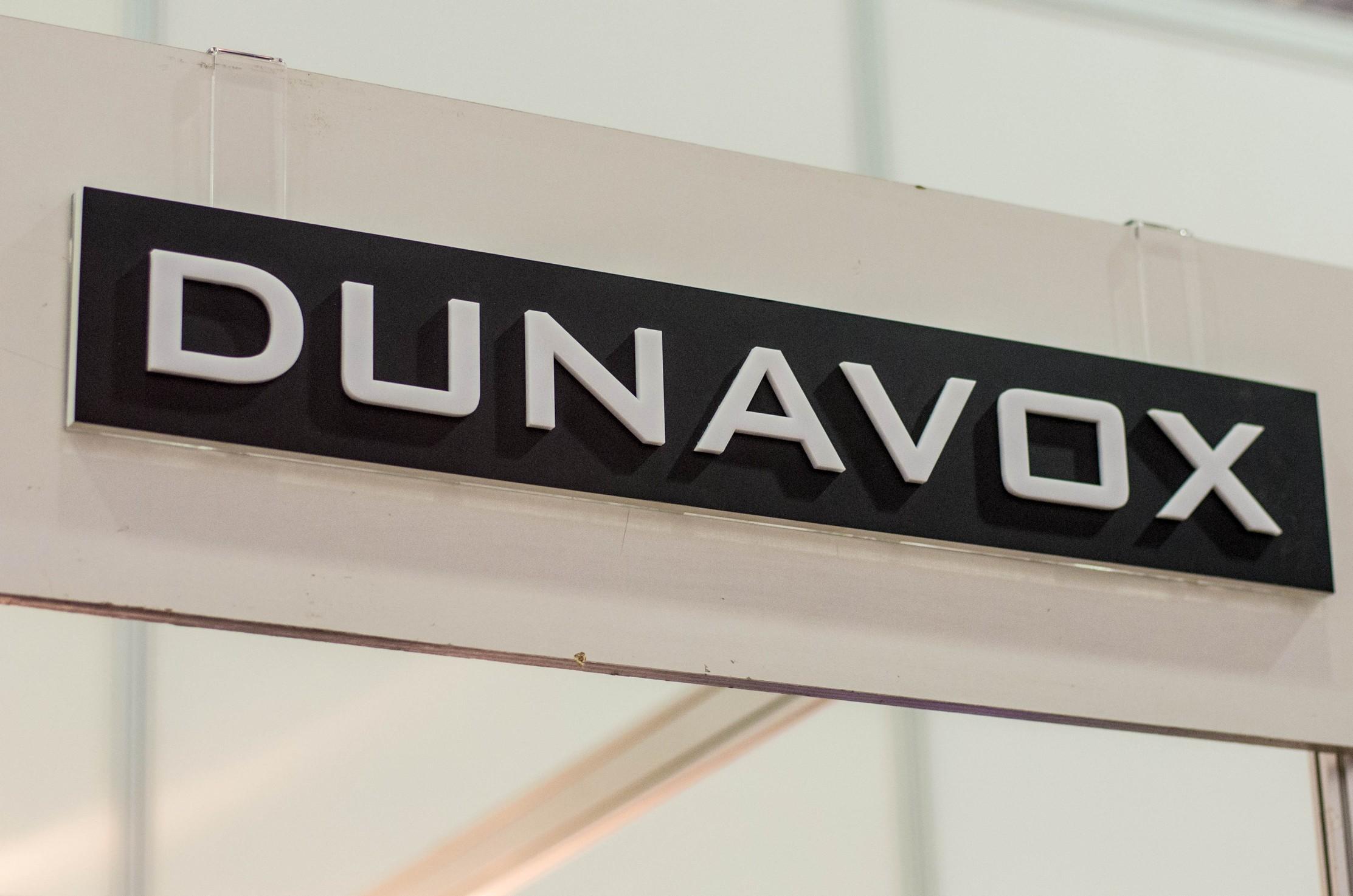 Логотип Dunavox на выставке